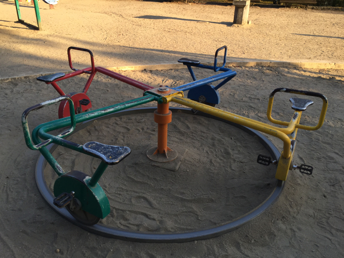 春日池公園 自転車 遊具