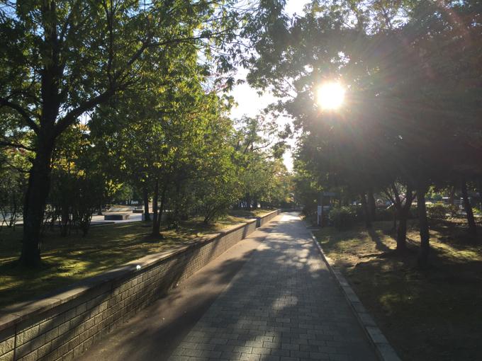 春日池公園 通路
