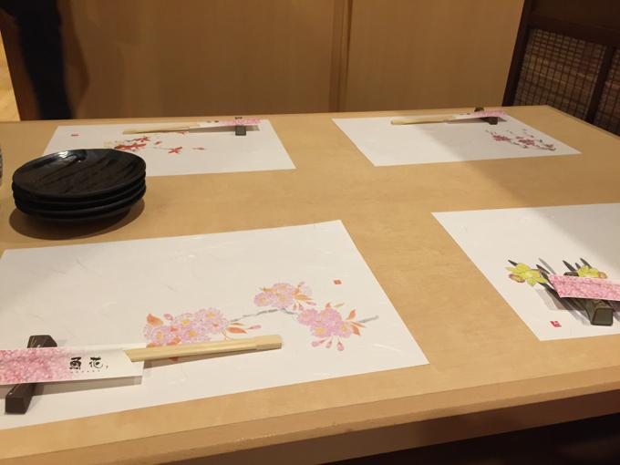 魚花 テーブル
