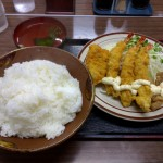 竹野食堂 カツなりさん定食 特盛り