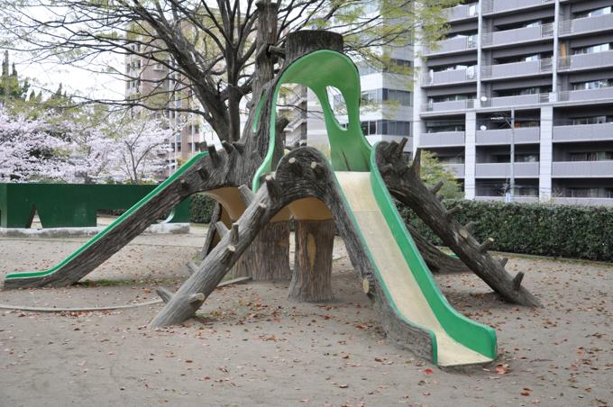 福山城 滑り台