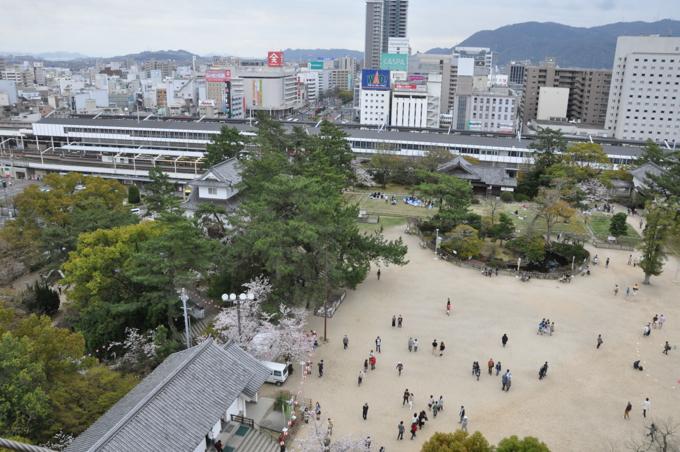 福山城 天守閣からの景色