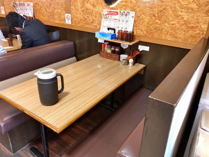 志堂 テーブル席