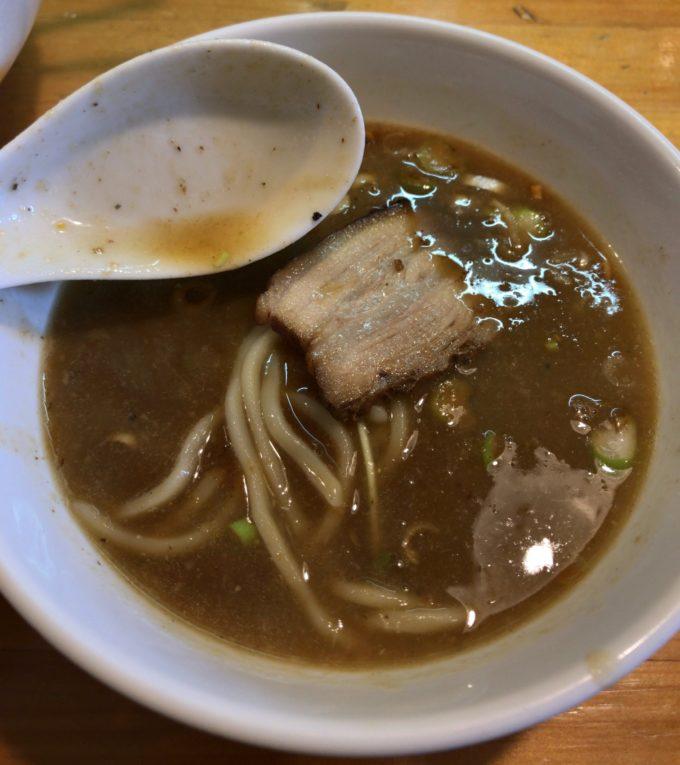 烏城 つけ麺 味