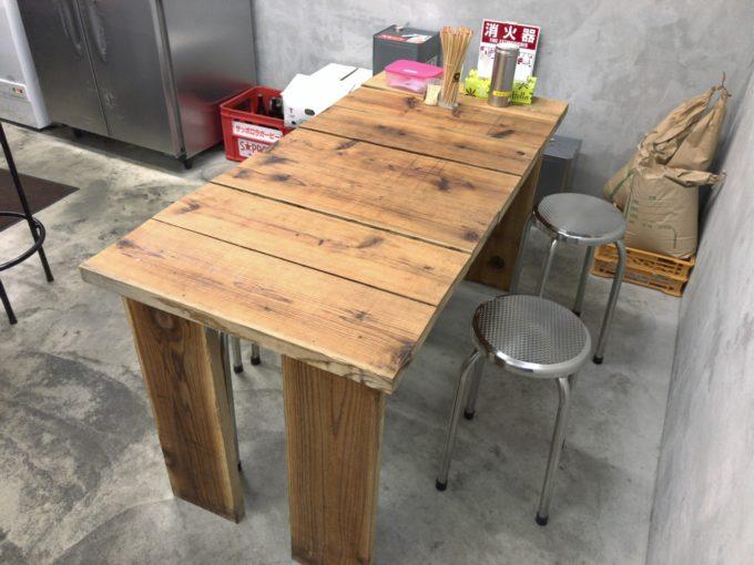 中華そば そのだ テーブル席