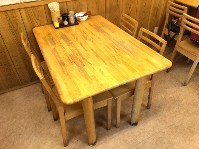 おっつぁん テーブル席