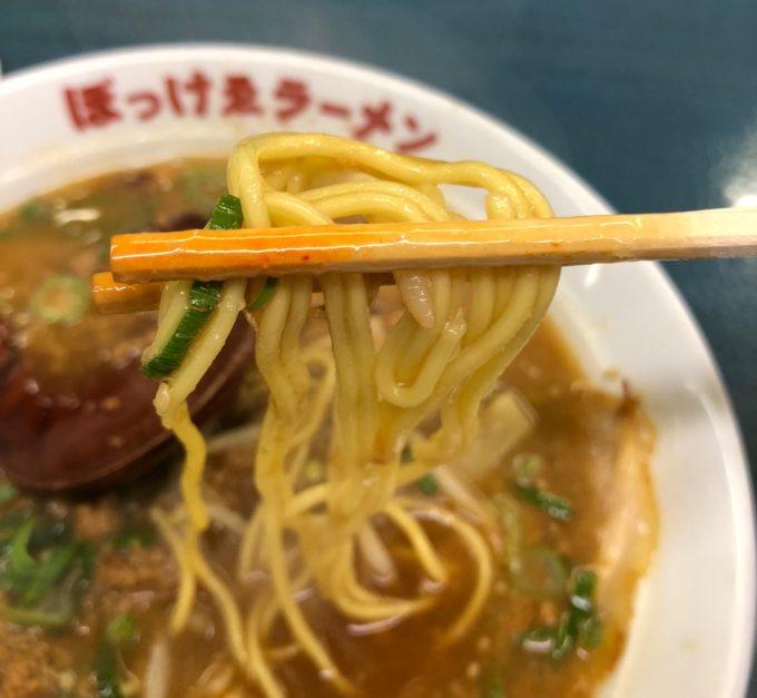 ぼっコマラーメン 麺