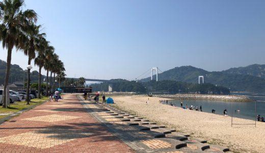 伯方島の伯方ビーチは海水浴が無料!駐車場も無料なのでおすすめ!